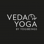Veda Yoga logo - black with white text