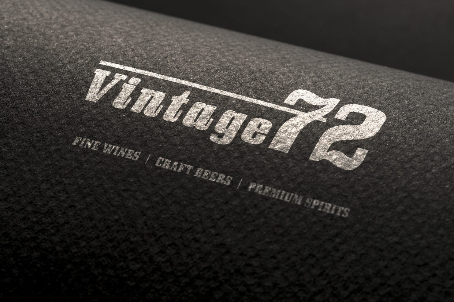 Logo design mockup for Vintage72 cellars in Rosanna