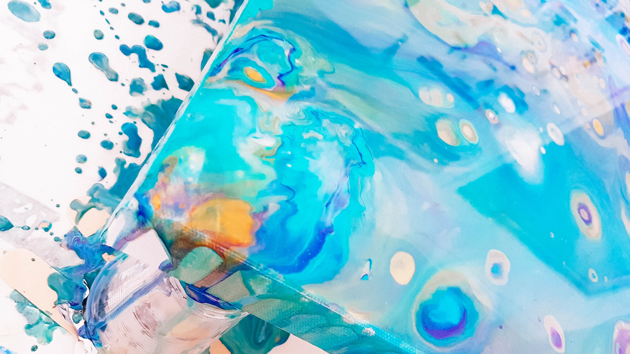 Flip cup dirty pour acrylic artwork by WildArt